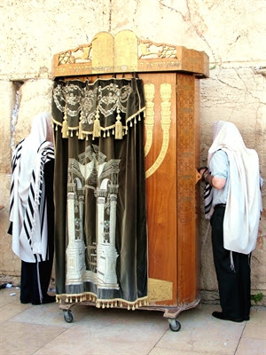 Torah ark at the Western (Wailing) Wall