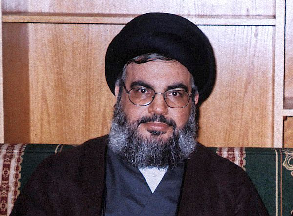 Sayyed Hassan Nasrallah, Secretary-General of the Hezbollah terrorist organization in Lebanon, an Iranian proxy group.