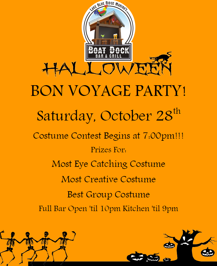 Halloween Bon Voyage Party_ Boat Dock Bar and Grill