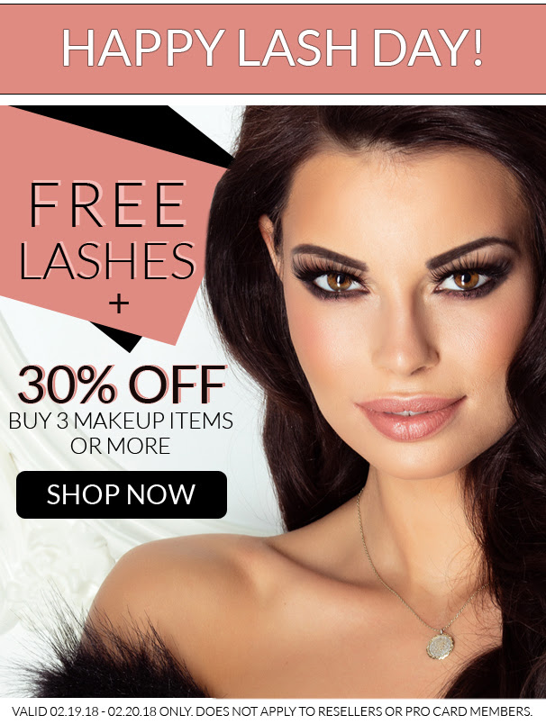 Buy 3 or more Makeup for 30% OFF & receive free eyelash