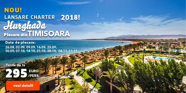 NOU! Lansare charter Hurghada, plecare din Timisoara, de la doar 295 euro/pers.