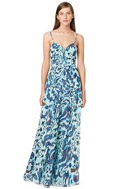 Hunter Bell Camo Sea Maxi Dress
