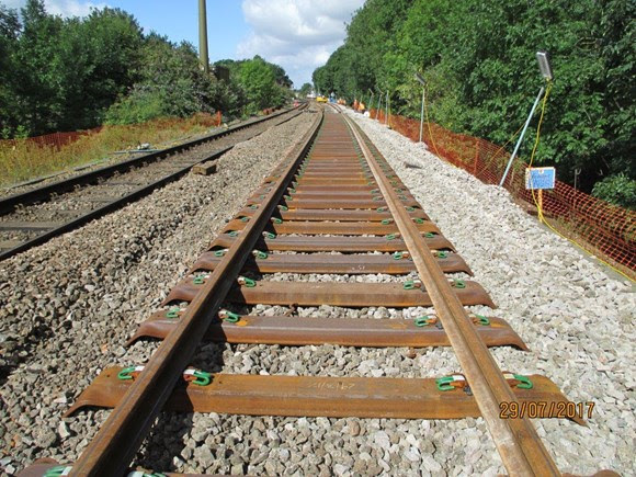 Fewer delays for Suffolk rail passengers following installation of new track