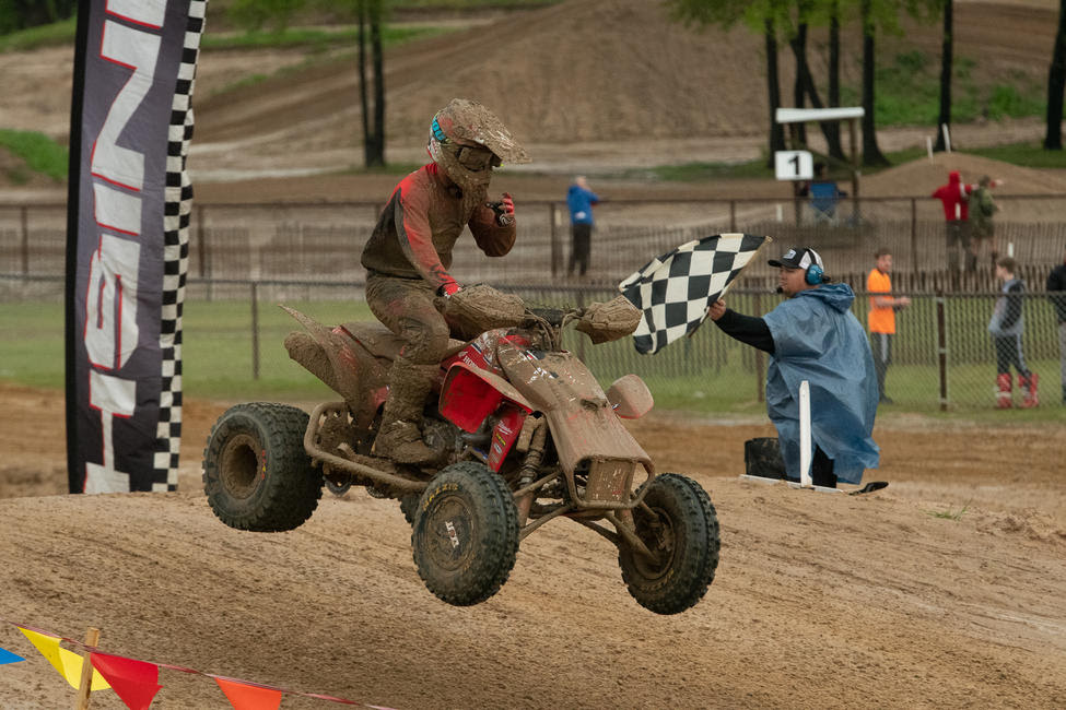 Joel Hetrick earned the moto one win, but was forced to back off the throttle during moto two.