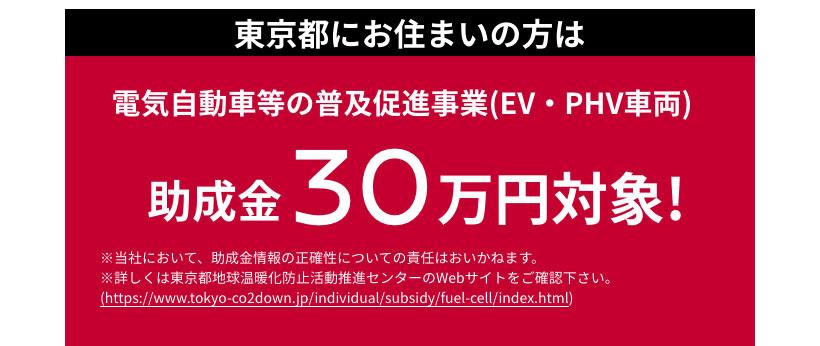 電気自動車等の普及促進事業(EV・PHV車両)/助成金30万円対象!