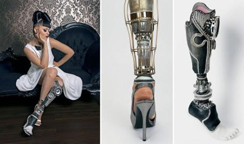 VIKTORIA MODESTA. Esta modelo e artista, de 27 anos, nasceu com uma malformação na perna esquerda e, aos 19 anos, optou por amputá-la.