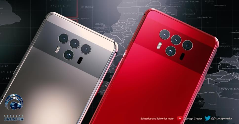 ล้ำไปอีก!! ชมคอนเซ็ปต์ Huawei Mate 20 มาพร้อมกล้องหลัง 4 ตัว สแกนนิ้วบนจอ