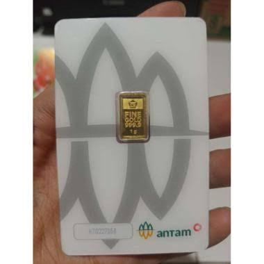 LM Emas Antam 1gr 1 gram 2020/2021 Redmark Certieye Certicard