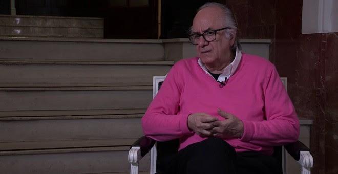 El sociólogo Boaventura de Sousa Santos durante la entrevista.