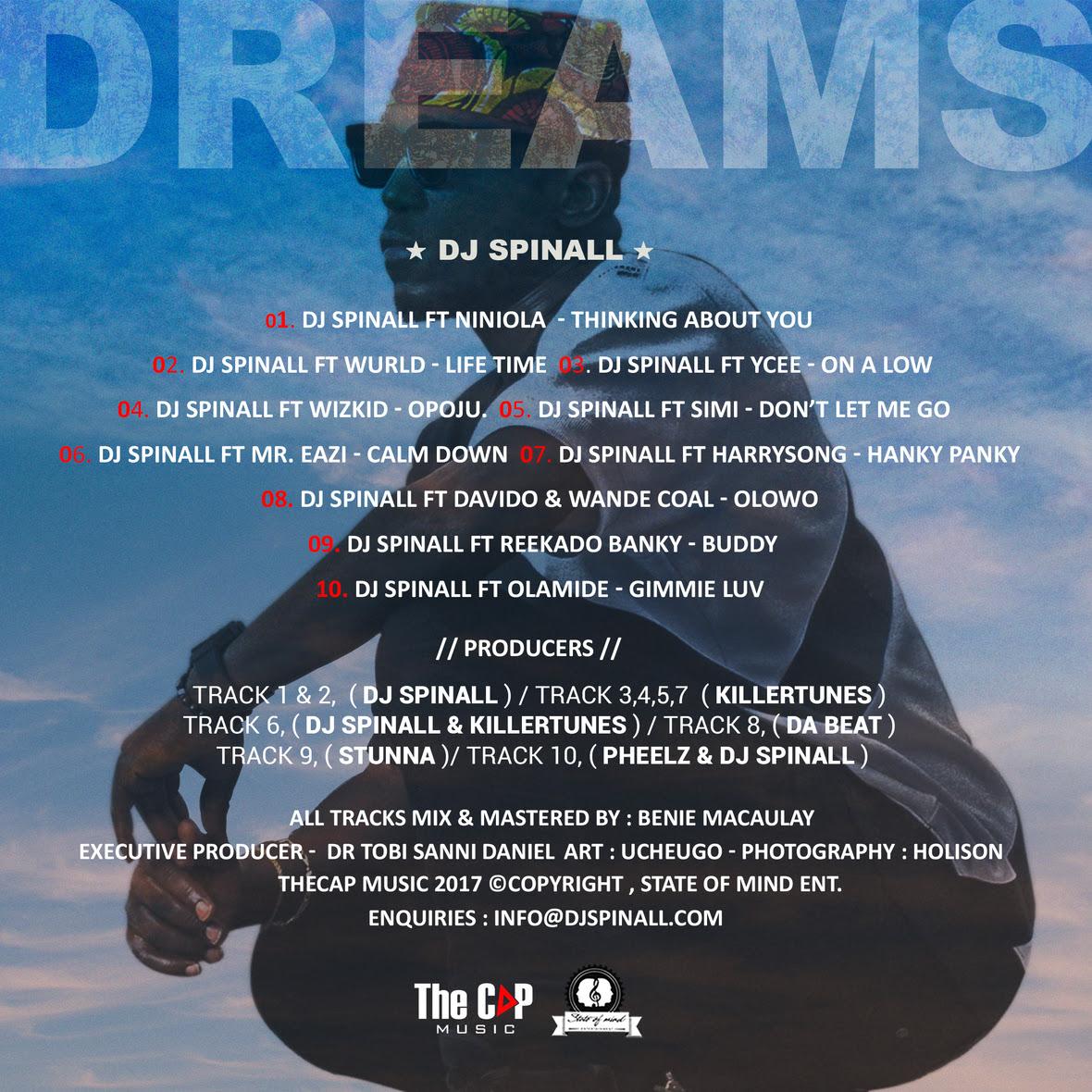 DREAMS - DJ Spinall Tracklist