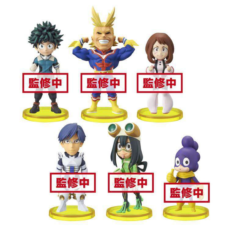 Image of My Hero Academia World Collectable Figure Vol. 1 Set of 6 Figures - AUGUST 2019