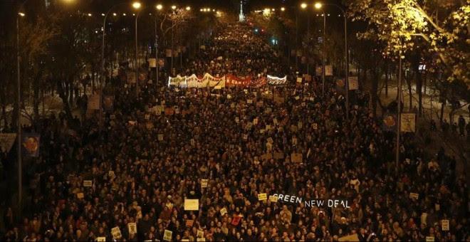 Marcha por el Clima en Madrid. / EFE