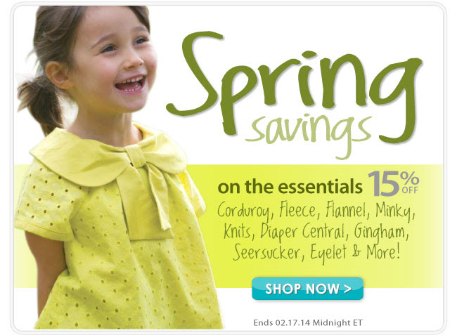 15% off during our Spring Juvenile Sale