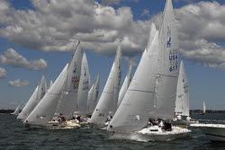 J/22s sailing CanAm Challenge regatta