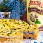 Закусочный торт с шампиньонами Карусель