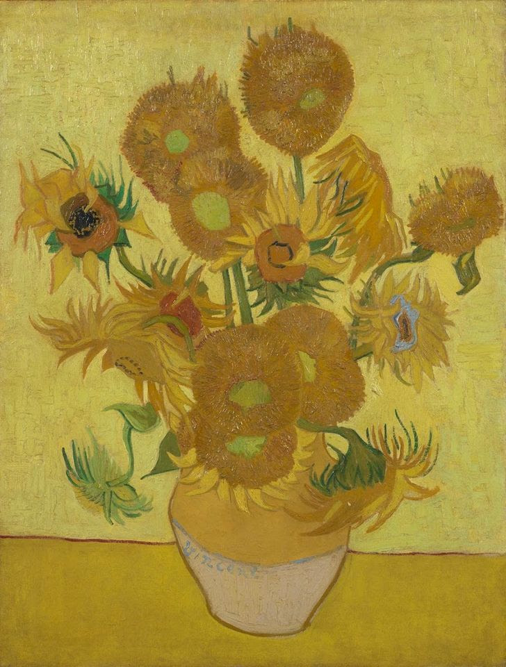 Sunflowers  Vincent van Gogh, January 1889