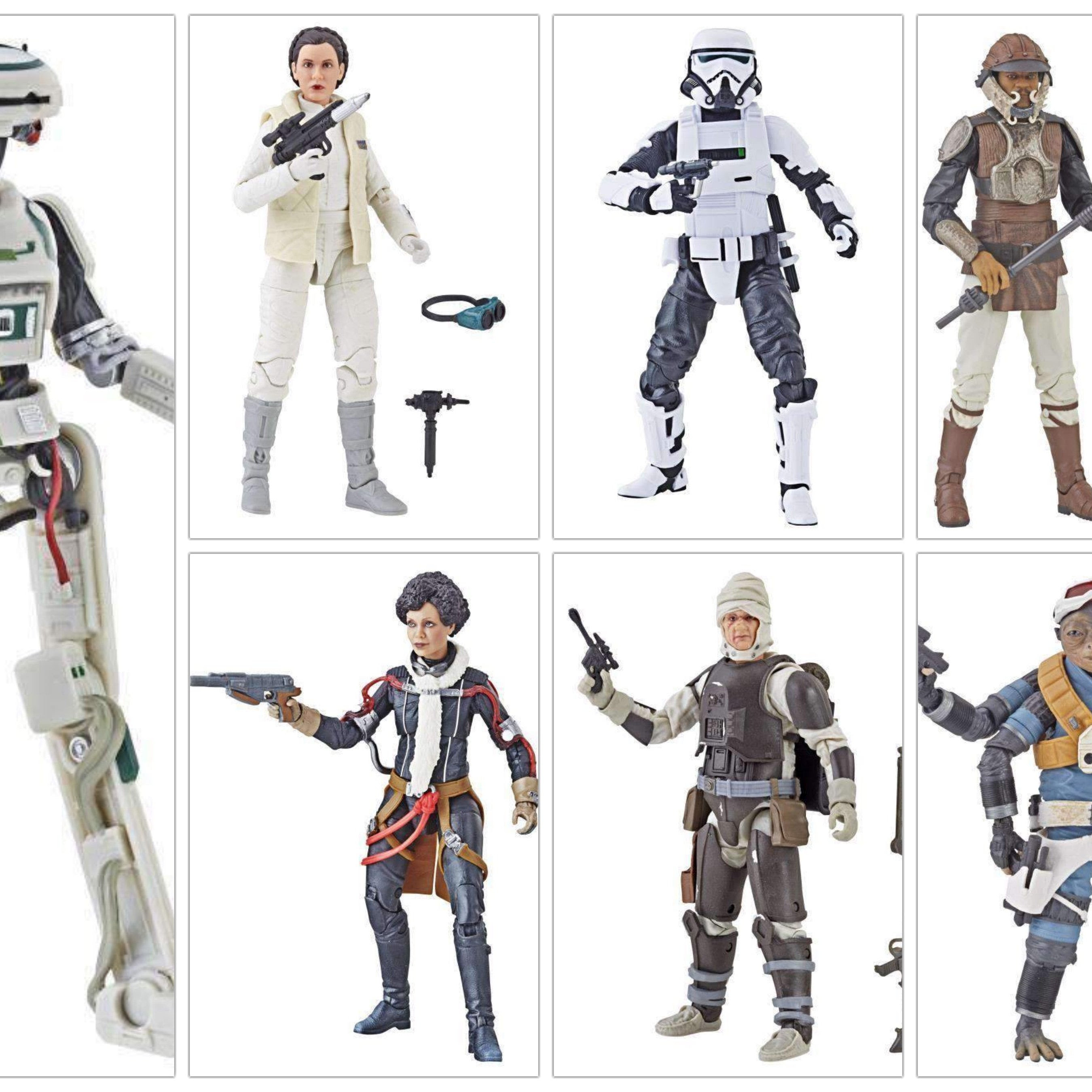 "Image of Star Wars The Black Series 6"" Action Figure Wave 19 - Set of 7"