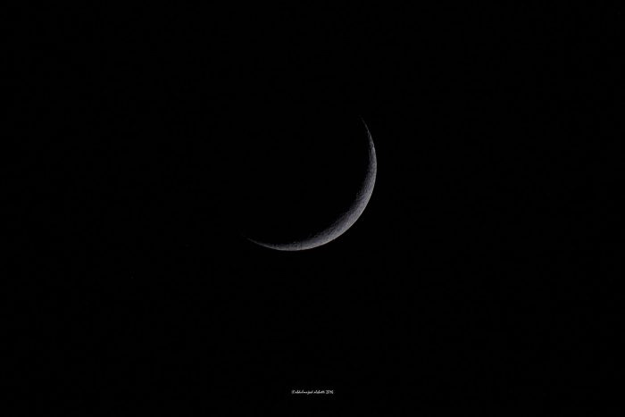 This young moon - June, 2016 - marked the beginning of Ramadan. Abdulmajeed Alshatti wrote: