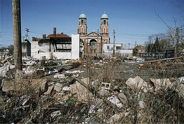 St. Francis of Assisi, View east From Hammond at Buchanan, Detroit, 2009