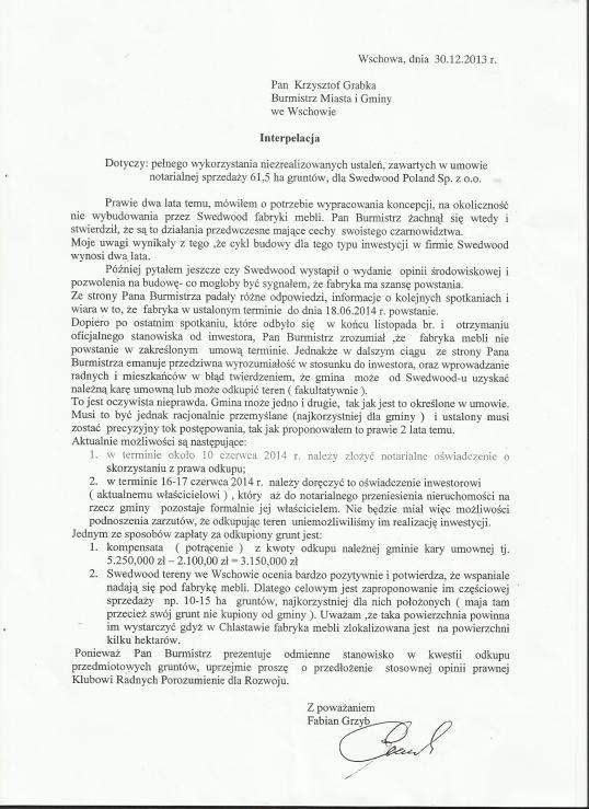Scan F.Grzyb do Burmistrz