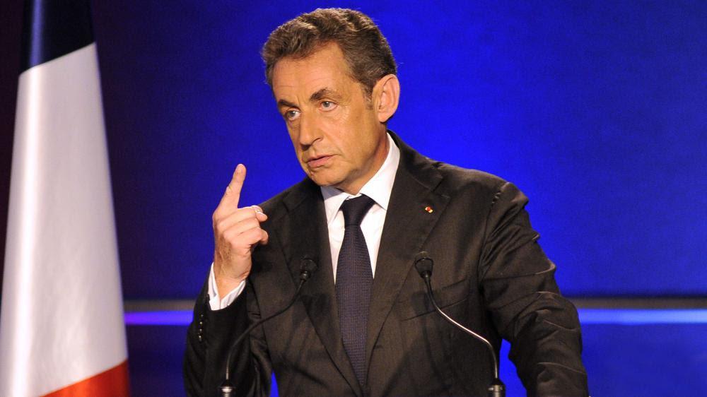 L'ancien chef de l'Etat, Nicolas Sarkozy, lors d'un meeting à Nice (Alpes-Maritimes), le 22 octobre 2014.