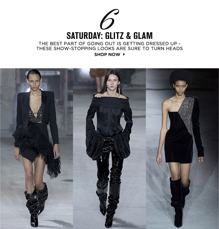 SATURDAY: GLITZ AND GLAM