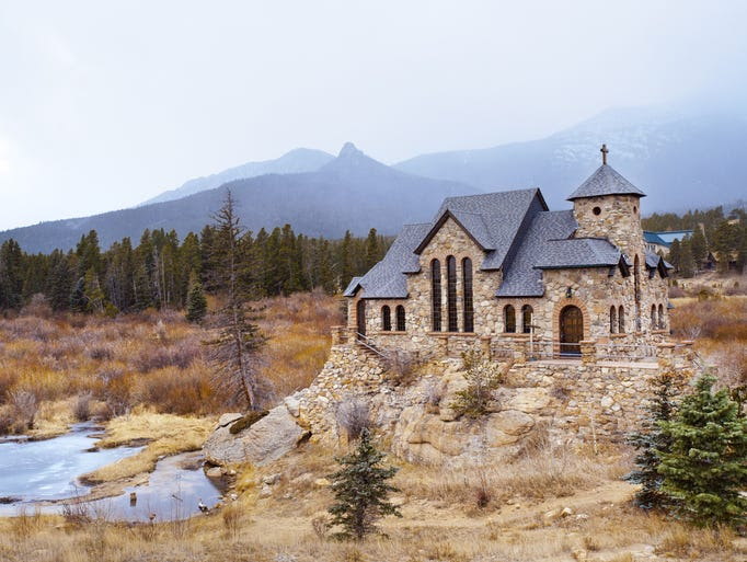 Chapel on                                                           the Rock near                                                           Estes Park,                                                           Colo., has an                                                           understated                                                           beauty that's                                                           as much about                                                           its harmony                                                           with the                                                           natural                                                             surroundings                                                           as the                                                           building                                                           itself.