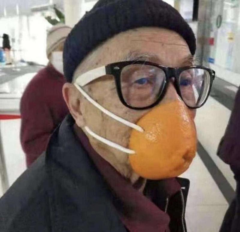 Man wearing an orange