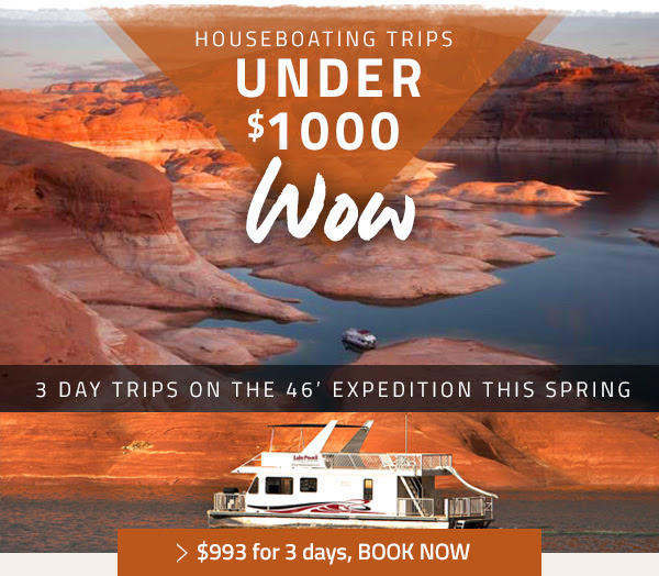 HOUSEBOATING TRIPS UNDER $1000 - $993 FOR 3 DAYS - BOOK NOW