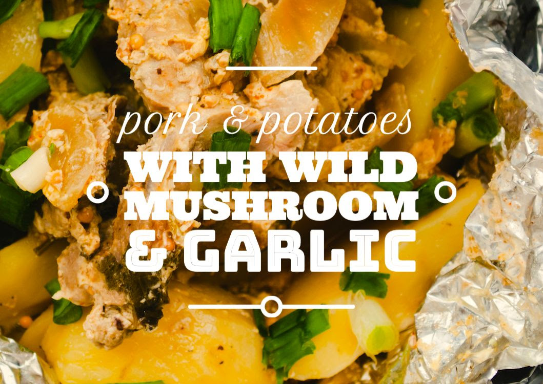 PORK AND POTATOES WITH WILD MUSHROOM AND GARLIC