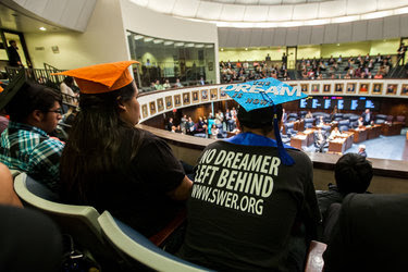 A college student who is a beneficiary of the so-called Dreamers program watched a Florida State Senate debate in 2014 about students who are in the country illegally. Any effort to overturn the Dreamers program and deport participants could ensnare almost 800,000 people.