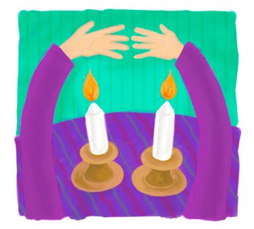 shabbat-candle-lighting (clip art)