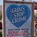 New ads on bus shelters in Phoenix promote gun-safety lessons. The city removed earlier ads that said