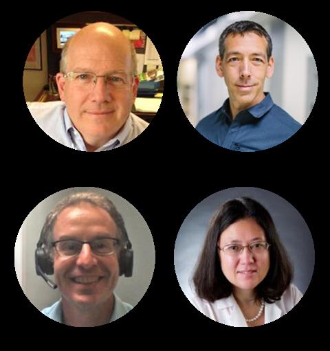 Headshots of Dr. Marshall Summar, Dr. Euan Ashley, Dr. PJ Brooks and Dr. Wendy Chung