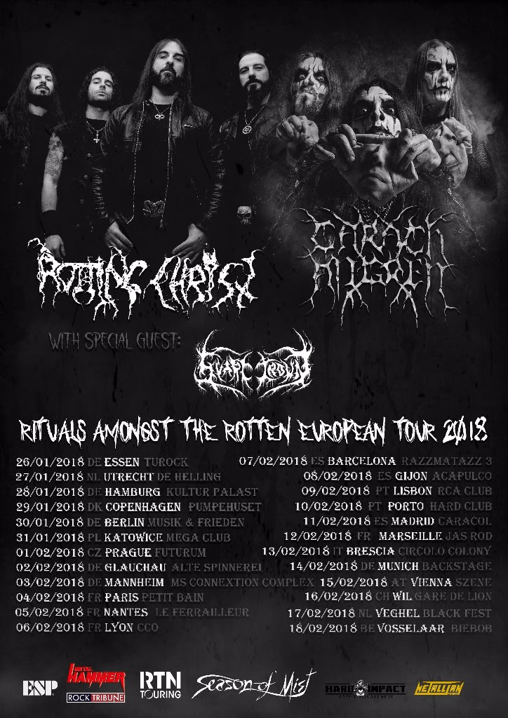 ROTTING CHRIST co-headling CARACH ANGREN poster