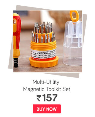 Jackly 31-In-1 Multi-Utility Screw Driver Magnetic Toolkit Set