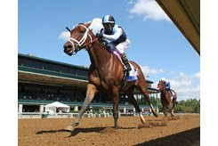 Speech wins the Ashland Stakes at Keeneland