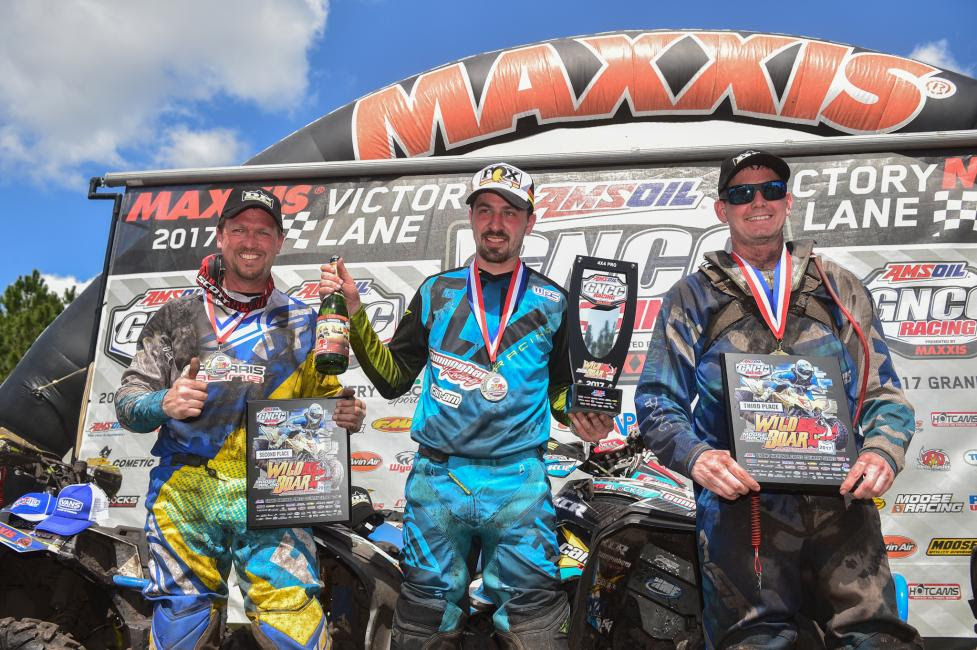 10 a.m. Overall Podium: (2) Kevin Trantham, (1) Kevin Cunningham, (3) Bryan Buckhannon.