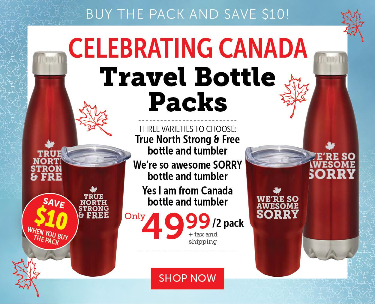Canada Travel Bottle Packs