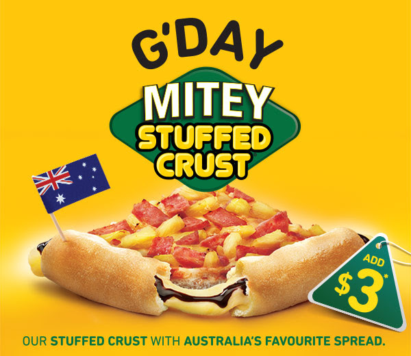 G'day Mitey Stuffed Crust - the latest from Pizza Hut
