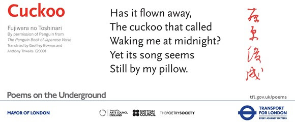 TfL Press Release - New set of Poems on the Underground draws on the city's global links