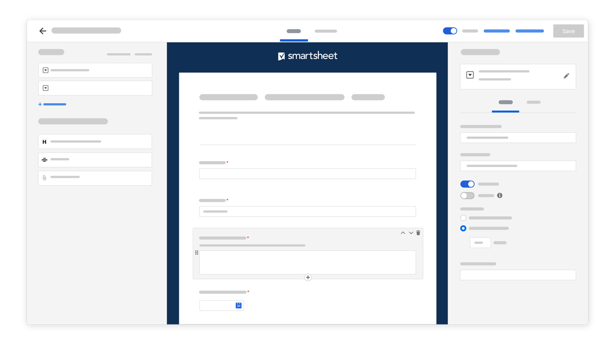 A more immersive builder UI to help get the most out of your forms, faster
