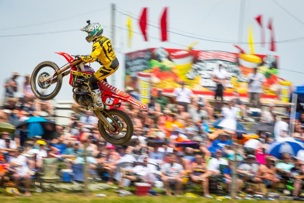 Martin suffered heartbreak in the second moto and watched both the overall win and points lead slip away.