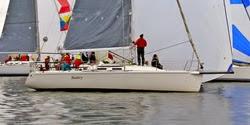 J/109 Tantivy sailing Vashon Island race off Seattle