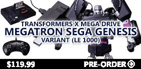TRANSFORMERS X MEGA DRIVE MEGATRON SEGA GENESIS VARIANT (LE 1000)