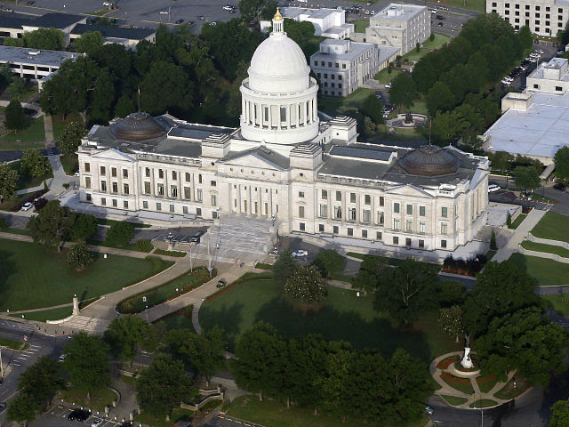 "FILE - This May 29, 2015 file photo shows the Arkansas state Capitol building in Little Rock, Ark. In February 2017, Arkansas lawmakers marked the 50-year anniversary of the Freedom of Information Act with a resolution calling it ""a shining example of open government"" that had ensured access to vital …"