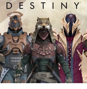 DESTINY COLOR TOPS COLLECTOR EDITION FIGURES
