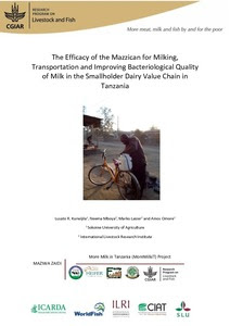 Assessing use of the Mazzican to transport and improve milk quality in Tanzania