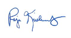 Raja Krishnamoorthi Signature
