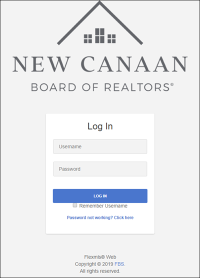 Display of the old login page on Flexmls